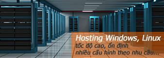Dịch vụ thuê hosting, không gian lưu trữ web.