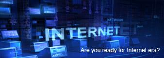Hãy sẵn sàng cho kỷ nguyên internet. Click để biết thêm