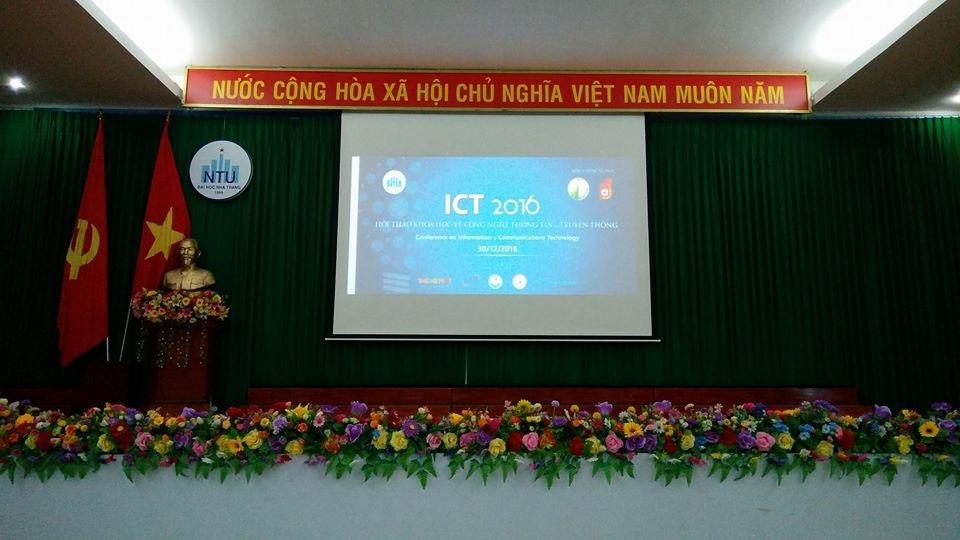 ĐỒNG HÀNH CÙNG SỰ KIỆN NTU ICT 2016 TẠI NHA TRANG