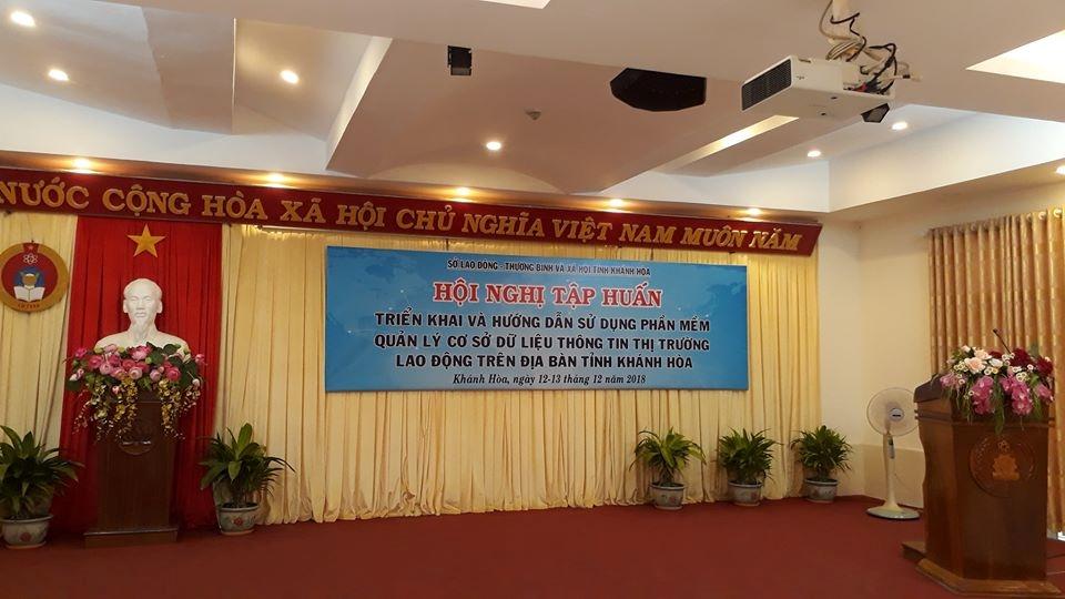Tập huấn Quản lý cơ sở dữ liệu thông tin thị trường lao động trên địa bàn tỉnh Khánh Hoà