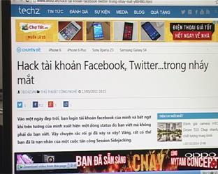 Gia tăng nguy cơ tin tặc tấn công người dùng mạng xã hội