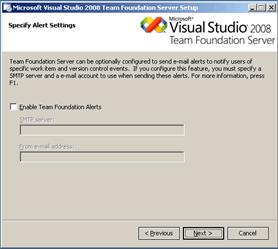 VS2008 TEAM FOUNDATION SERVER + SQL 2005 SP4 + WINDOWS 2008