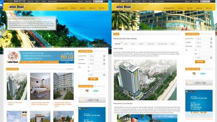 Website bất động sản CatloiReal.com
