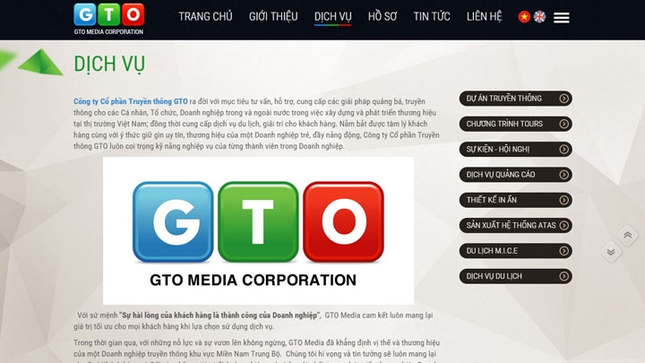 Website Công ty GTO Media