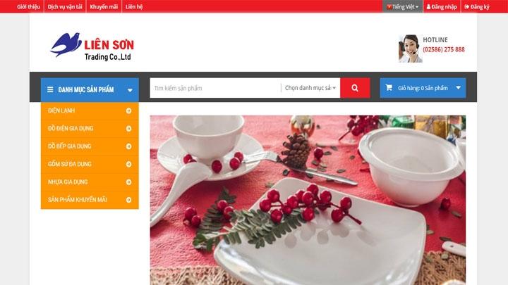 Website bán hàng trực tuyến LienSonShop.com