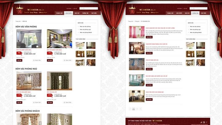 Website Công ty Rèm Hoàng Gia