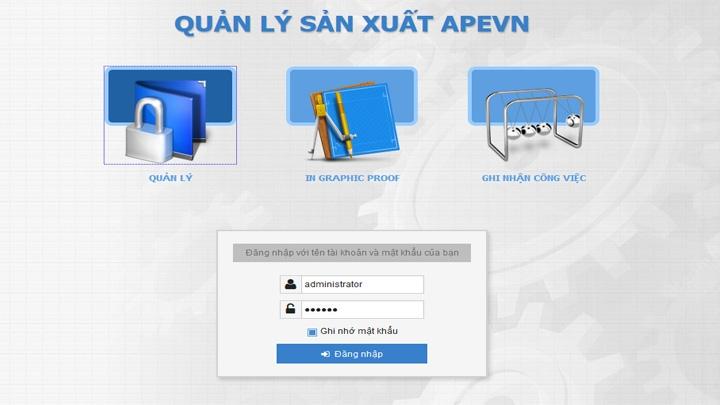 Phần mềm quản lý tổng thể công ty APE Vietnam