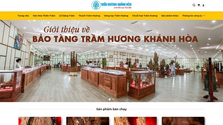 Website Công ty Trầm Hương Khánh Hòa