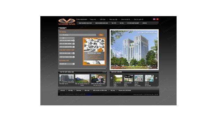 Website bất động sản VCOMland