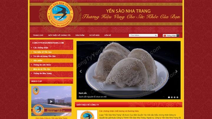 Website Công ty Yến Sào Nha Trang