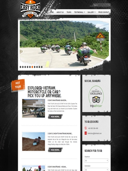 Website EasyRiderTrips.vn