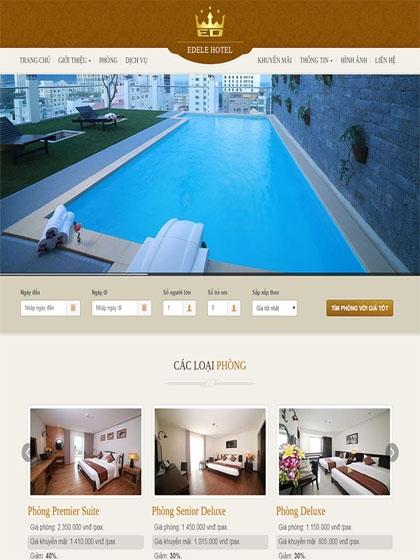 Website khách sạn Edele