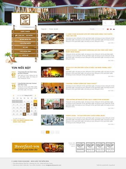 Website E-Land 4 Seasons