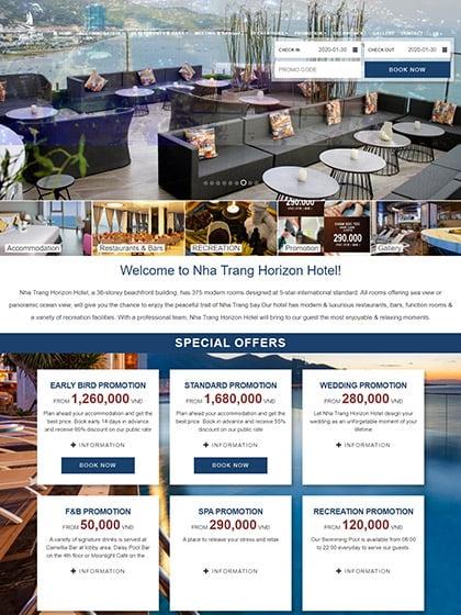 Website khách sạn Horizon Nha Trang