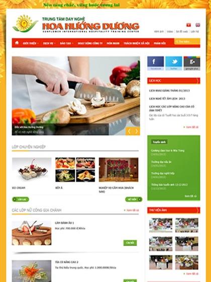 Website TT dạy nghề Hoa Hướng Dương