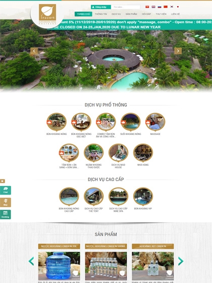 Website Khoáng Nóng I-resort