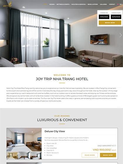 Website Khách sạn Joy Trip Nha Trang