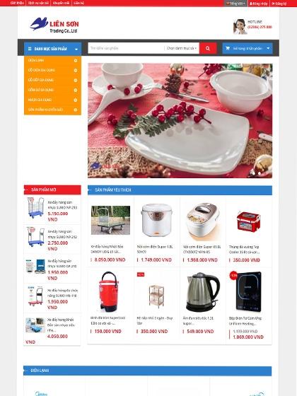 Website Liên Sơn Shop