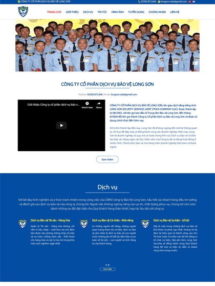 Website Công ty Long Sơn Security