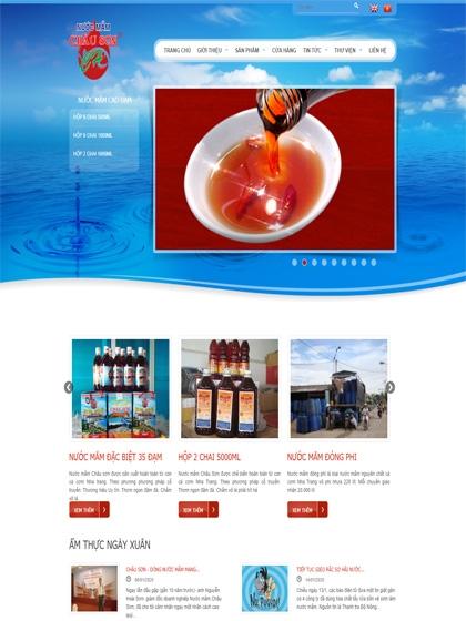 Website Mắm Châu Sơn