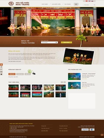 Website Múa rối nước nha trang