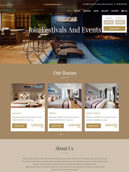 Website Nalicas Hotel