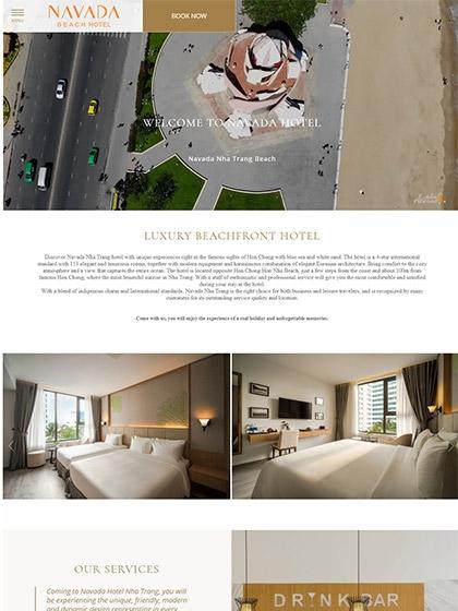 Website Khách sạn Navada