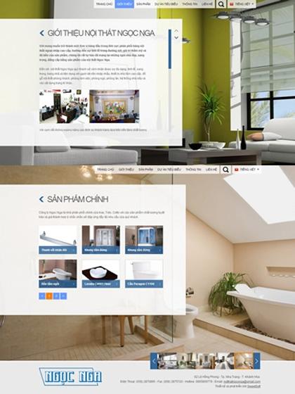 Website Công ty Nội Thất Ngọc Nga