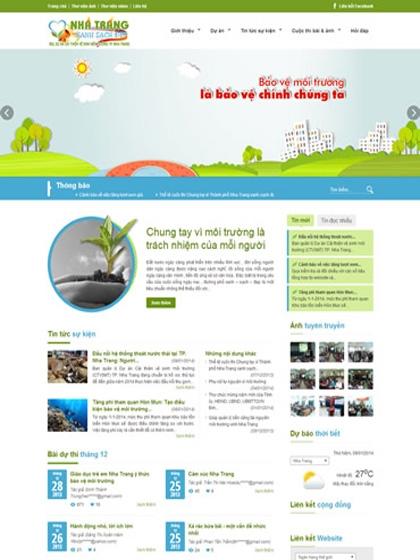 Website Nha Trang Xanh Sạch Đẹp