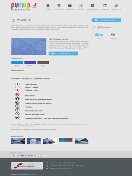 Website Pinnup pin board