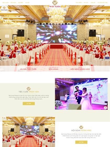 Website nhà hàng Sen Vàng