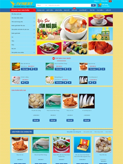 Website Sàn giao dịch Yến sào Khánh Hòa