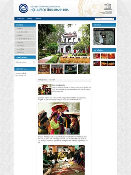 Website Hội Unesco Khánh Hòa