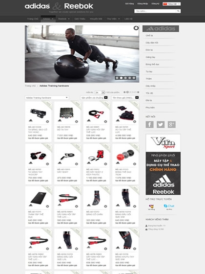 Website AdidasReebok.vn