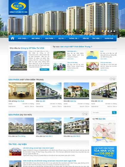 Website Khu đô thị Vĩnh Điềm Trung