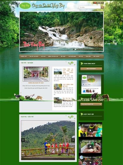 Website Công viên du lịch Yangbay